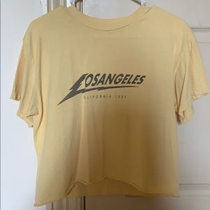 Brandy Melville Yellow Los Angeles T-Shirt